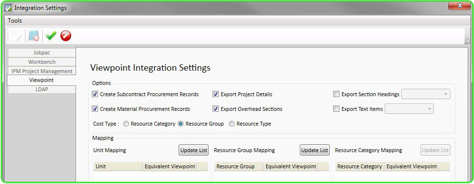 Viewpoint Integration Setting