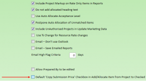 Admin Settings for Add Item to Project