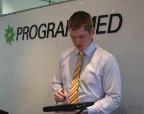 Benchmark Estimating Software is being used by Programmed Facility Management on tablet PCs