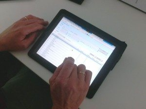 Benchmark Estimating Software being used on an ipad