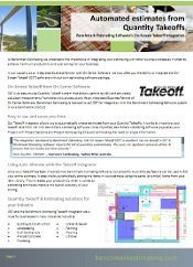 Takeoff Integrator Feature Flier