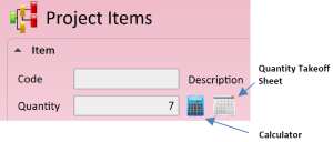 Project Item Calculator and takeoff icon