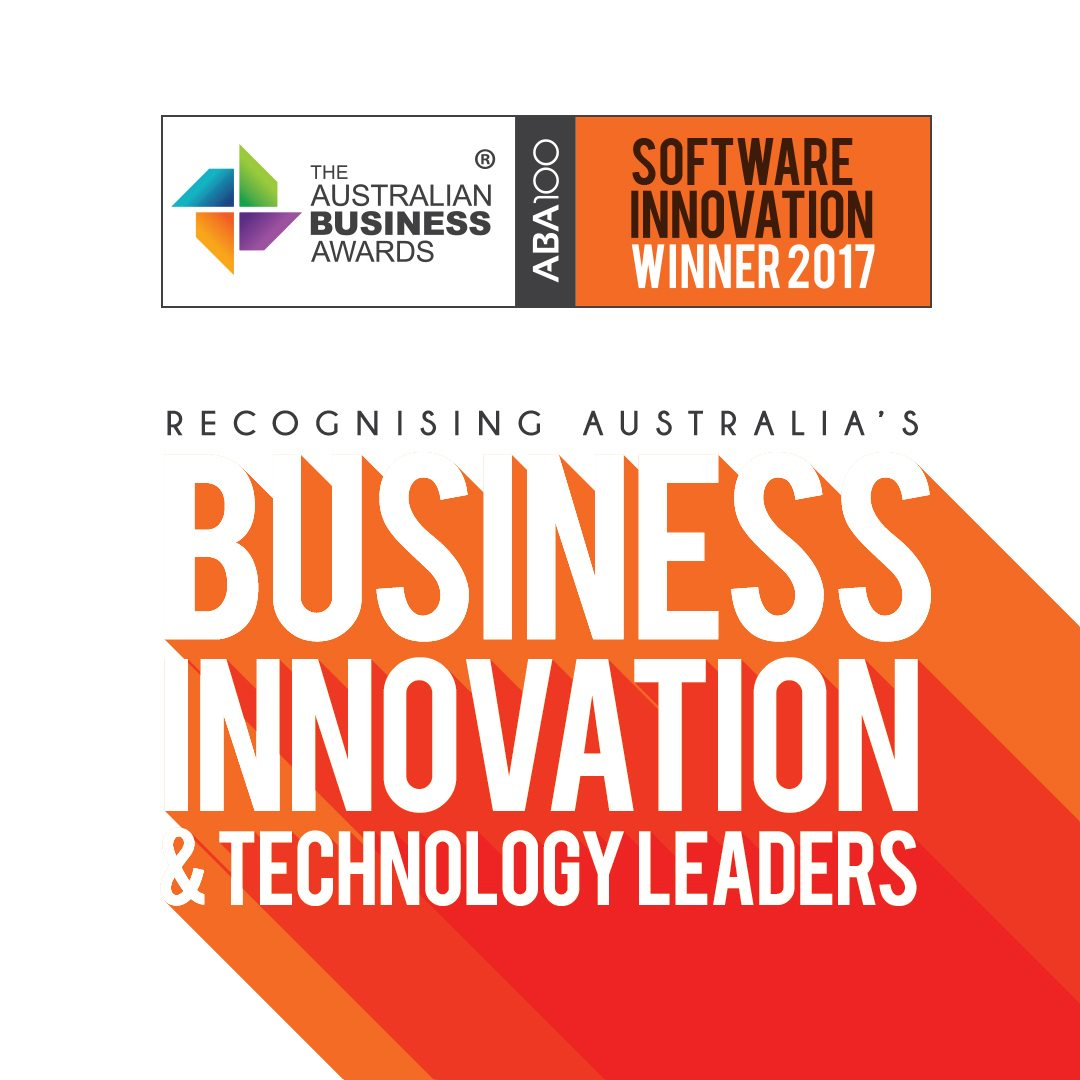 ABA100 Winner for Software Innovation in The Australian Business Awards